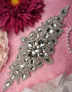El más nuevo Estilo Nupcial Cinturón Rhinestones Satén Vestido de Novia 10 Colores Ribbon Bride Accessories Precio al por mayor Envío gratuito