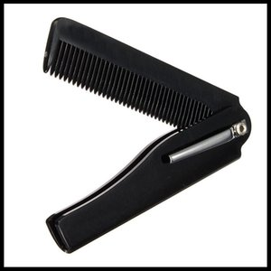2PCS Mens Womens Beauty Handmade plegable clip de bolsillo pelo bigote barba peine