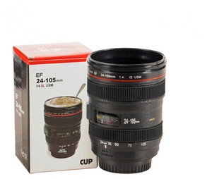 480ML 렌즈 머그잔 뚜껑 검정색 플라스틱 컵없이 커피 렌즈 에뮬레이션 카메라 머그컵 맥주 컵 와인 컵