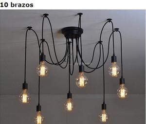 Mordern северных ретро Эдисон лампы античная ретро регулируемый поделки Е27 арт-чердак люстра потолочная светильник