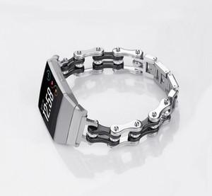 NEWEST Bicycle chain style bande de remplacement en métal pour Fitbit Ionic pour Fitbit Ionic bande en acier inoxydable Smart Watch Band bracelet