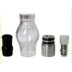 Bombilla de estilo globo de cristal Cera atomizador Simple Doble cerámica cuarzo algodón Bobinas seco de hierbas vaporizador pluma Cúpula del atomizador para el ego T Evod batería