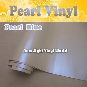 Premium caméléon brillant bleu vinyle brillant lustre blanc caméléon film sans air enveloppes de voiture Taille: 1.52 * 20 M / Roll (5 pi x 65 pi)