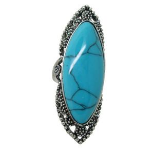 Anéis De Pedras Preciosas Do Vintage Moda Jóias Anel Especial Com Turquesa Colorida Anéis Tibetanos Anéis De Turquesa projetos assorted
