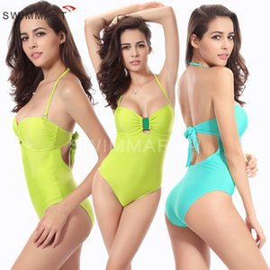 Women's Spaghetti Strap Backless One-Piece Bodysuit Bikini Swimwear Monokini Bathing Suit Swimsuit 2 Colour Option VS008A