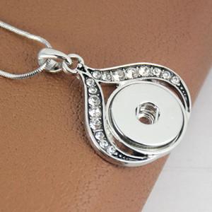 Legierung Kristall Metall Snap Halskette mit Kette Anhänger Halskette für Frau und Mann Snap Schmuck Großhandel Freies Verschiffen