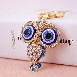 Drop shipping için Serin Büyük Gözler Gece Baykuş Anahtar zincirleri kadın anahtarlık / Takı, çanta Charms, Hediye, Gerçek Altın Kaplama Alaşım Anahtarlık, ücretsiz kargo