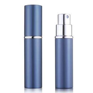 DHL Ücretsiz Gemi Parfüm Şişesi 5 ML Alüminyum Eloksal Kompakt Parfüm Sonrası Ücret Atomiser Atomizer Parfüm Cam Koku-Şişe Karışık Renk