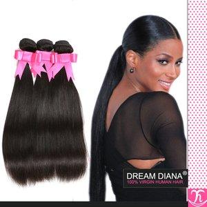 Ali-Königin-Haar-preiswertes brasilianisches gerades Haar 3Pc neues Rosa-Haar-Firma-8a-Grad-Jungfrau-unverarbeitetes Menschenhaar-verworrenes gerades heißes Schönheits-Haar