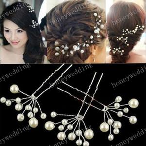 Wedding gli accessori nuziali dei capelli 3pcs damigella d'onore del fiore della perla copricapo dei perni di capelli di Pin di capelli gioielli copricapo della sposa