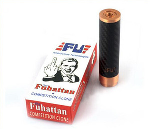 2014 Kohlefaser Fuhattan Fu Manhattan MOD Klon Kupfer Pins Ecig MOD Kompatibel Sony 18650 VTC5 VTC4 VTC3 30A Batterie PK Rig Rose MO