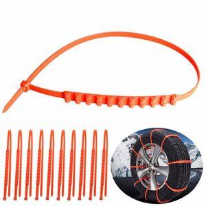 10pcs Anti-skid 체인 견인 와이어 겨울 보호 타이어 휠 스노 휠 짙은 타이어 텐 돈