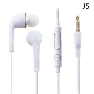 Piatto colorato-Orecchio 3.5mm per cuffie con controllo del volume e il MIC cuffia Earbuds per Samsung Galaxy S4 S5 i9600 Nota 2 Nota 3 N9000