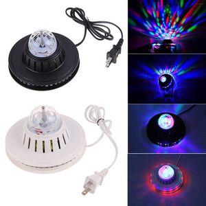 2015 Testa mobile di cristallo Colore RGB Auto rotante cambiando UFO Girasole LED Light Home Party Stage KTV Disco Dancing Bar DJ Club