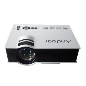 100 % 원래 Andoer UC40 LED 프로젝터 명암비 800 : 1 1080P 풀 HD 홈 시어터 800 루멘 휴대용 TFT LCD TV 프로젝터