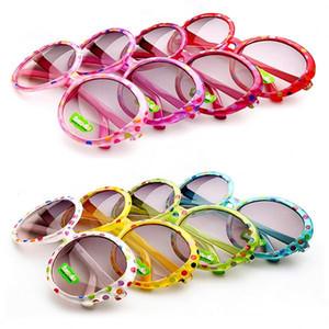 الاطفال النظارات الشمسية الإطار البلاستيك الطفل بنين بنات النقاط جولة ظلال نظارات 8 ألوان شحن مجاني انخفاض الشحن
