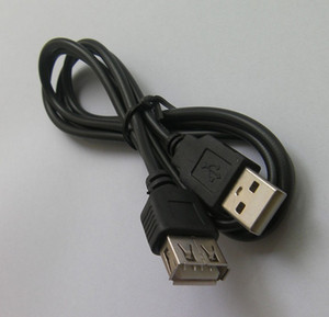 USB 2.0 Erkek Kadın Uzatma Kablosu Siyah Renkli 0.8m