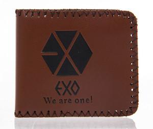 İhracat Moda Yeni erkek tasarımcı deri lüks çanta cüzdan erkekler için kısa EXO cüzdanlar ücretsiz kargo