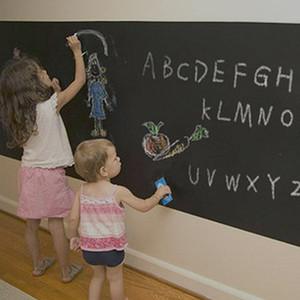 DIY Blackboard Autocollant Imperméable À L'eau De Vinyle Chalkboard Stickers Muraux Amovible Blackboard Autocollant avec 5 Craies