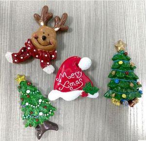 Рождественские магниты на холодильник Рождество холодильник стикер украшения смолы подарки олень Рождественская елка смолы магнитные наклейки