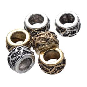 100 pcs love heart Alloy Bead DIY pandora Big Hole Beads Fits Charm Pandora Bracelets Necklaces Pendants