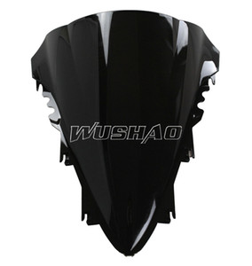 Motorcycle Double Bubble Windshield WindScreen For 2007-2008 Yamaha YZF 1000 R1 07 08 Black