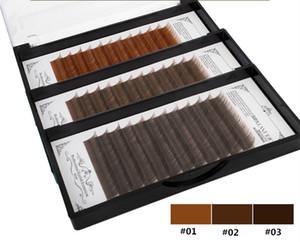 Профессиональный макияж DIY прививки ресницы натуральный толстый мягкий один корень посадки ресниц светло-коричневый / темно-коричневый / черный коричневый