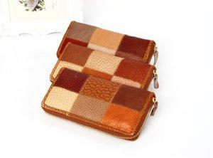 Caractéristiques de portefeuille national de conception en gros Long Femmes Embrayages Vintage bourse sac à main en cuir portefeuille dame portefeuille à glissière