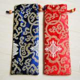 Дополнительные длинные прокрутки живопись мешок двухъярусный шнурок шелк парчи упаковка охватывает китайский стиль высокого класса подарочный пакет 10 шт. / лот смешать цвет бесплатно