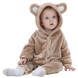 Kukucos nourrissons Commerce extérieur Mascot Vêtements Explosions Vêtements pour enfants Automne Flanelle Ours Modélisation des animaux d'escalade bébé Jumpsuit