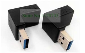 100 pcs USB 3.0 Male to Feamale L Adapter