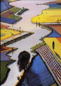 Reine handgemalte Wayne Thiebaud Landschaft Wand Kunst Ölgemälde auf Leinwand. Multi Größen berkpr105