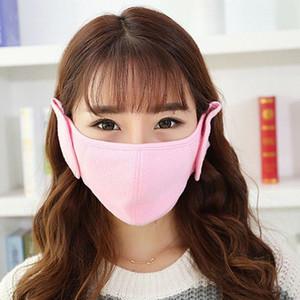 Wholesale-Unisex Mouth-muffle Earmuff Respirator Winter Thicken Warm Cycling Biking Outdoor Guaze Mask Earshield for Men And Women Earmuff