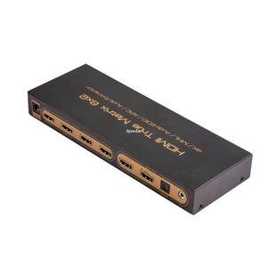 Freeshipping HDMI Matriz 6x2 PIP 1.4 V 4 K 3D Áudio EDID / ARC / Audio Extractor 5.1 interruptor ou splitter 6 entrada 2 conversor de saída