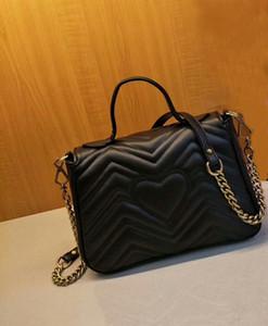 Горячие продажи новый стиль высокое качество женские 26 см кожа мода повседневная бренды женские сумки на ремне сумки старинные бронзовые золотые цепи сумки