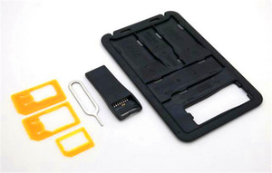 A4Accessories Sim Card Adapters   Storage + Micro SD storage + Micro SD Card Reader + Sim Release Pin in Credit Card Size