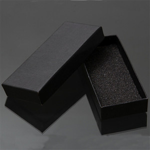 Wholesale-Practical Matte Black Gift Box Jewelry Key Buckle Packaging Small Cardboard Jewelry Boxes With Foam Sponge Pad Boxes For Sale