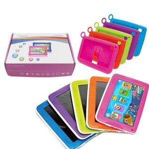 """2017 DHL Kids Brand Tablet PC 7"""" Quad Core children tablet Android 4.4 Allwinner A33 google player wifi big speaker protective cover 8G"""