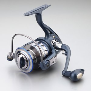 Hot Super Allblue Technology Carrete de pesca 12BB + 1 Bolas de bolas 1000-7000 Serie Blue Spinning Reel Boat Rock Whee pesca
