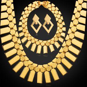 Mulheres geométricas borlas brincos de rock star charme pulseiras choker colares 18k banhado a ouro conjuntos de jóias africano