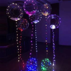 Новый дизайн новогодние рождественские украшения 24 дюймов из светодиодов светящиеся воздушные шары круглый пузырь пузырь бобо для украшения свадебной вечеринки