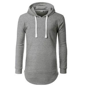 New fashion Mens Sweatshirts Solid long Style Fleece Hoody Men Sports Top Jamickiki Brand Pullovers Hoodies US Size S-XXL