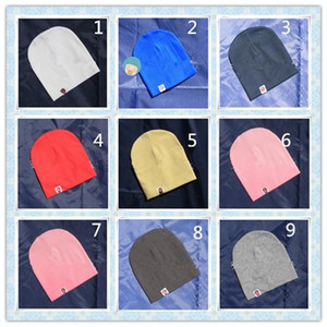 Toddler Caps Baby Products Korean Style Fashion Simple Basic Newborn Baby Soft Hats Pure Color Children Baby Boys Girls Winter Warm Cute