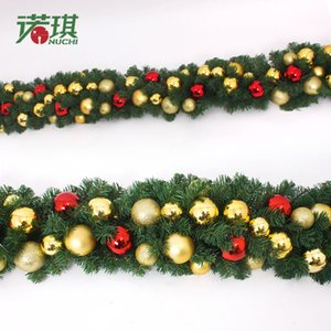 2.7 m Noel Dekorasyon Rattan Ağacı Dekorasyon Bells Otel Mart Dekorasyon Chrismas Garland Ev Dekorasyon