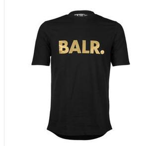 O envio gratuito de homens T-shirts Balr marca maré rua de manga curta em torno do pescoço solto de mangas curtas homens de algodão personalidade