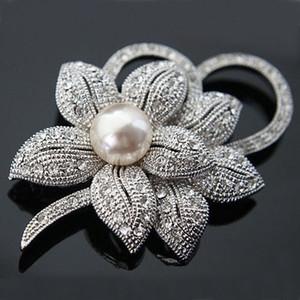 Spilla a fiocco grande vintage elegante di alta qualità imitazione perla spilla perni donna gioielli collare pins matrimonio nuziale spilla bouquet B812
