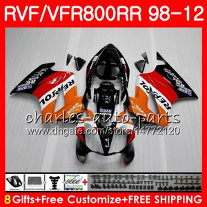 VFR800 para HONDA Interceptor naranja Repsol VFR800RR 98 99 00 01 02 03 04 12 90NO3 VFR 800 RR 1998 1999 2000 2001 2002 2003 2004 2012 Carenado