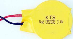 10 pcs muito original KTS CR2032 3 V PLC BIOS CMOS bateria motherboard Do Cartão usado