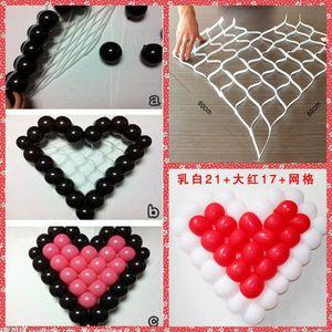 Großhandel Herz Gitter für Hochzeit Ballon Fixed Decoration Billig Verkauf aus China Hochzeit Dekoration Ballon Fixed Plastic Mesh