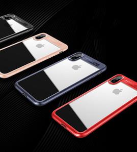 Для iPhone 8 Plus iPhone X Телефон Case задняя крышка Case TPU Clear противоударный Case телефон протектор для Iphone 8 прозрачный